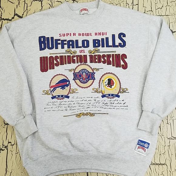 40646c60 Super Bowl XXVI NFL Bills Redskins Mens Sweatshirt